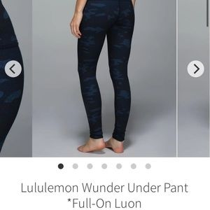 EUC Lululemon wunder under pant full-on luon Sz 8